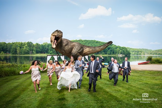 Jeff Goldblum Joins in On the Best 'Running Away from a T-Rex' Wedding Photo Ever