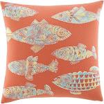 Tommy Bahama Orange Batic Fish Decorative Pillow