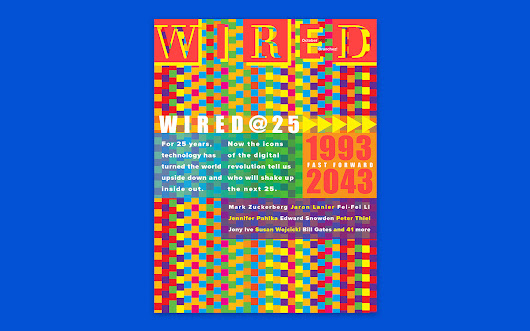 Wired's 25th Anniversary Cover is a Peek Into the Past, Present + Future of Magazine Design