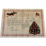 "Carnation Home ""Letter to Santa"" Holiday Place Mat, Set of 4"