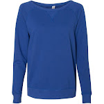 Alternative - Women's Vintage French Terry Scrimmage Pullover Sweatshirt - 5068, Royal Blue