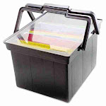 Advantus Companion Letter/Legal Portable File Storage Box (Black)