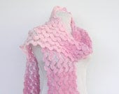 Pale Pink Scarf, Winter Accessories - Ayca