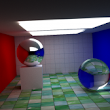 Path tracer: thin lens, texture mapping, Fresnel equations, and smooth shading