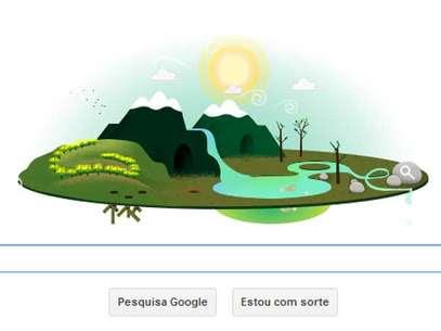 Dia da Terra 2013 ganhou homenagem do Google Foto: Reprodução