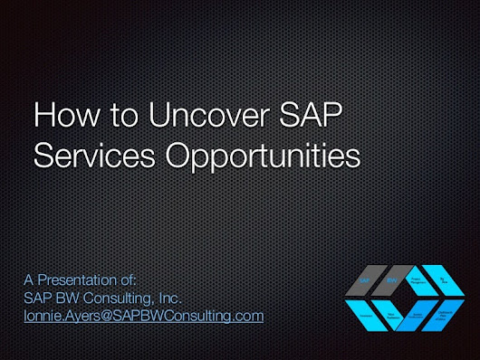 How to uncover sap services opportunities