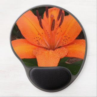 Asiatic Orange Lily Gel Mouse Pad