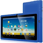 Worryfree Gadgets 7DRK-Q-BLUE 7 in. Android 4.4 Quad Core 4GB Bluetooth Dual Camera Wireless - Blue