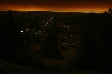 Night in the day over Pinedale