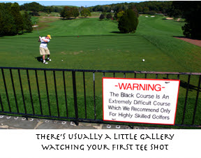 Bethpage Black warning