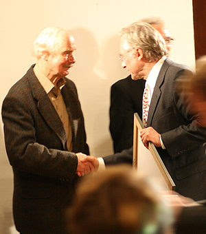 Karlheinz Deschner (left) and Richard Dawkins ...