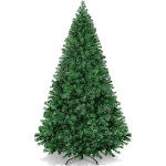 6ft Artificial Premium Hinged Christmas Pine Tree w/ Solid Metal Stand, 1,000 Tips - Green