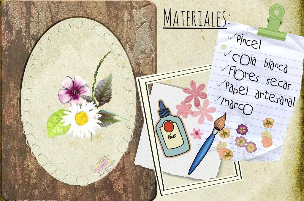 Cuadro Con Flores Secas Actividades Para Ninos Manualidades