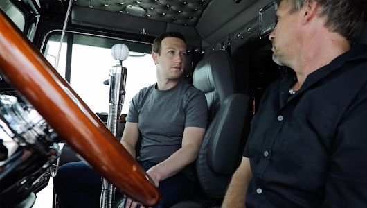Facebook founder Zuckerberg hears truckers' concerns at Iowa 80 truck stop