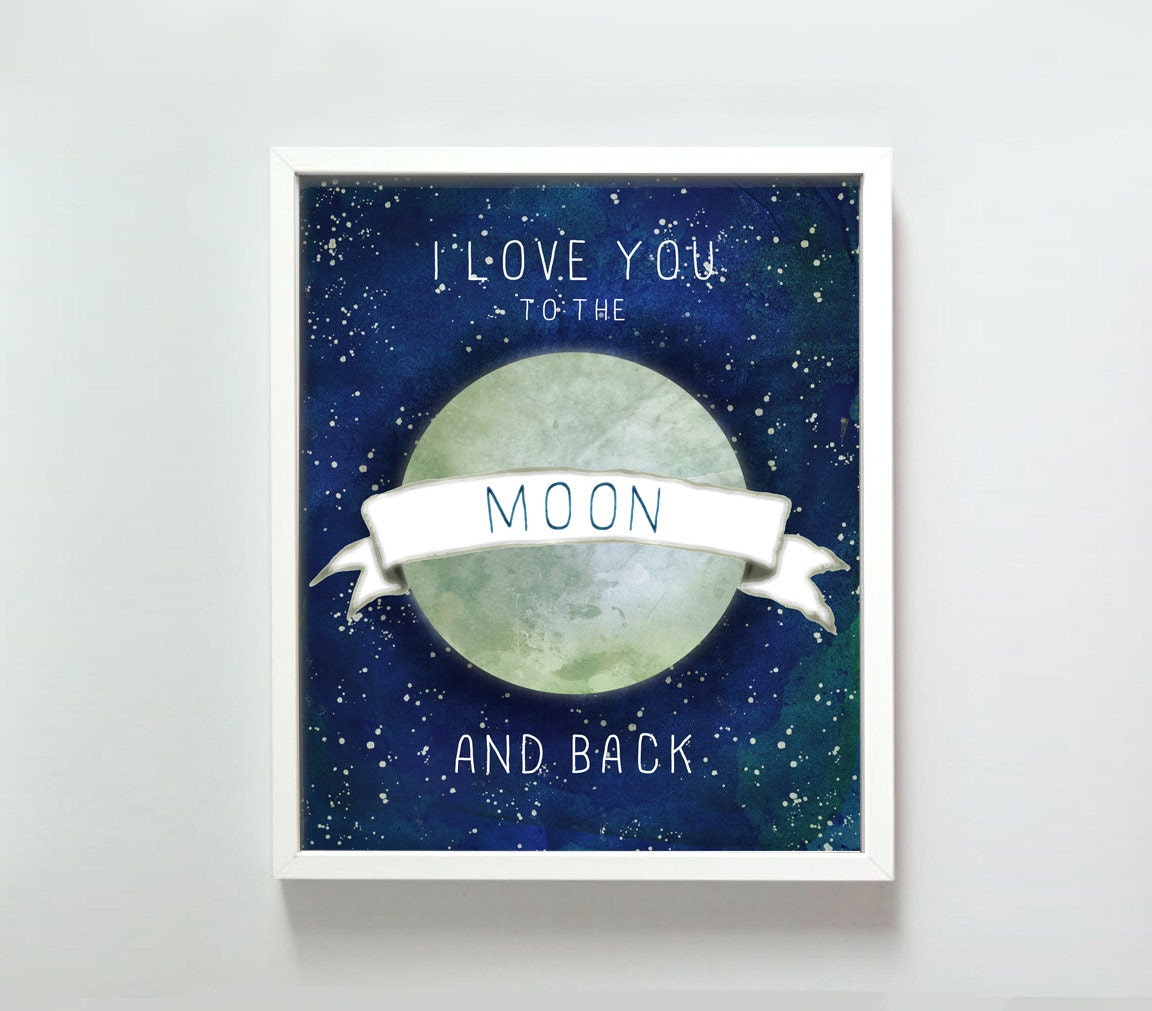 8x10 Love You to the Moon print - GusAndLula