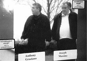 English: Joe Massino spotted leaving his docto...
