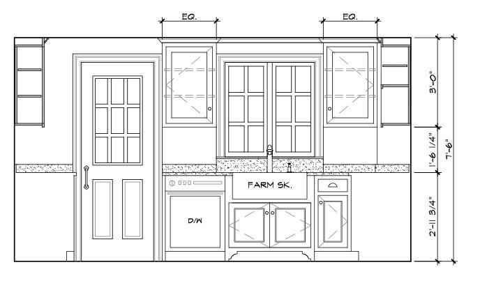 Modern Kitchen Elevation Design
