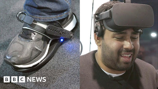VR shoes: 'I feel totally knackered'
