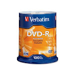 Verbatim 4.7 GB 16X DVD-R 100 Packs Spindle Disc Model 95102