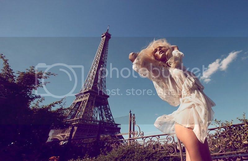 paris,white,floaty,blonde,eiffel tower