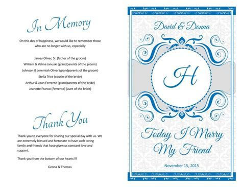 wedding program cover designs   Wedding Programs Fast