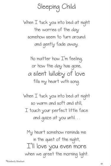 poems about sleeping babies   Google Search   Motivational