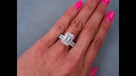 2.79 ctw Emerald Cut Engagement Ring and Wedding Band Set