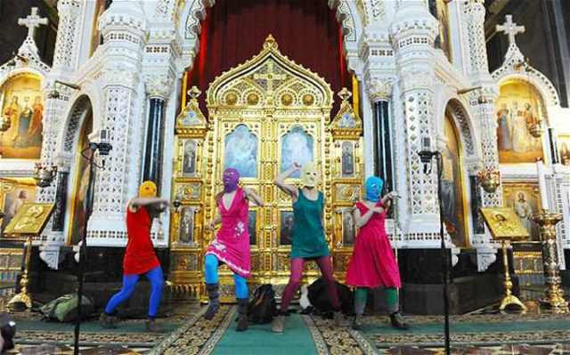 Pussy-Riot botránya a Megváltó Krisztus székesegyházban Fotó world edu