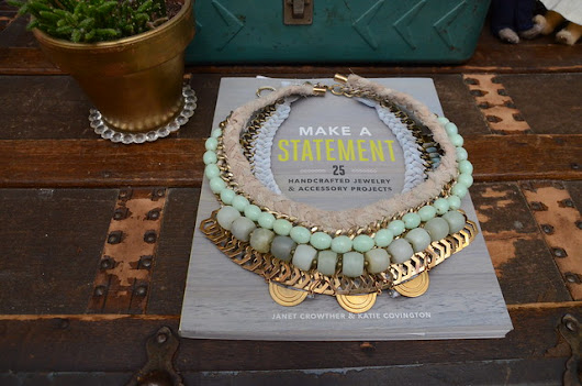 Stars for Streetlights: Woven Collar With Jade Beads + For the Makers' Make a Statement Book