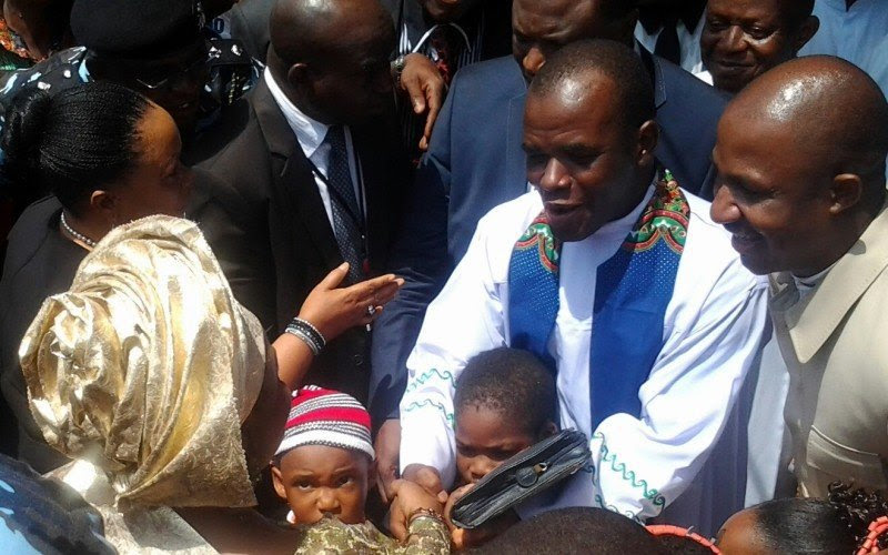Fr. Mbaka Moving To His New Parish Yesterday