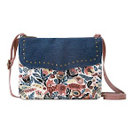 Women's Sakroots Austen Double Gusset Crossbody, Adult, Size: OSFA, Clay Enchanted Forest