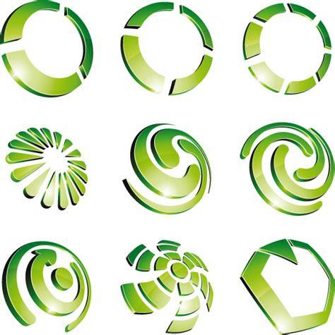 green flower logo design  vector