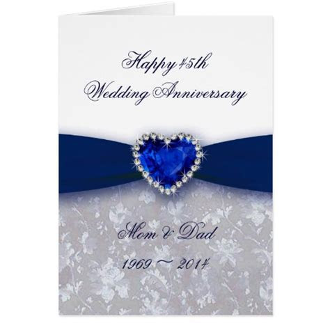 Blue Sapphire Anniversary Cards, Photo Card Templates