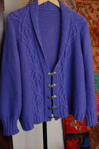 Mom's Cabled Cardi