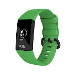 Zodaca 2 Pack Fitbit Charge 3 Wristband, byZodaca Replacement Silicon Wristband Watch Straps for Fitbit Charge 3 Fitness Activity Tracker - Green Size Small