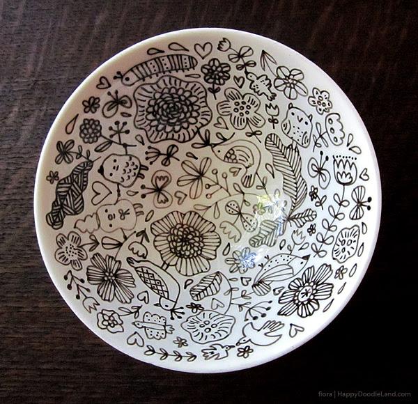 Ceramic Doodle Bowl