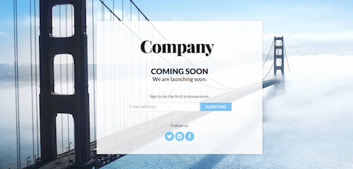 Coming Soon Page Templates with Email Subscription - Web Design Inspiration, Templates, and Development Blog