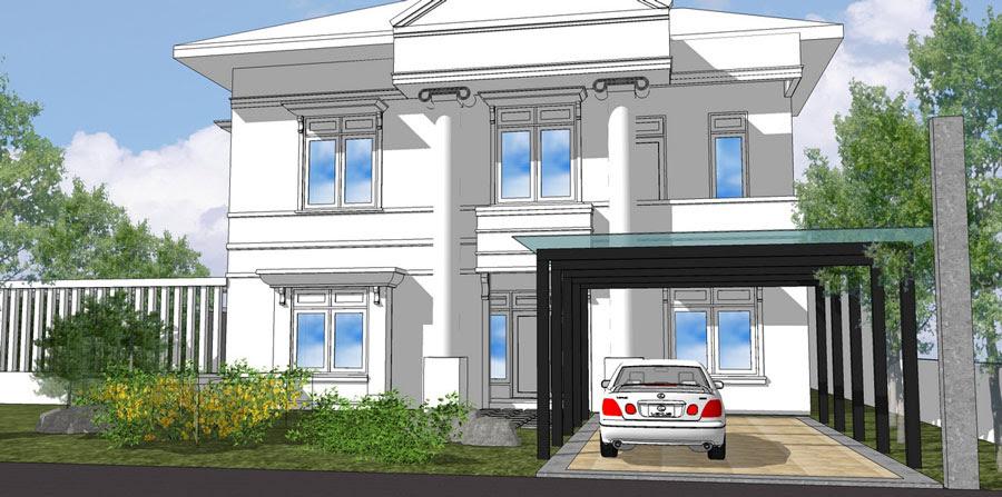 Desain Rumah TinggaI Bp Aryadi Legenda Wisata Cibubur 2012 -