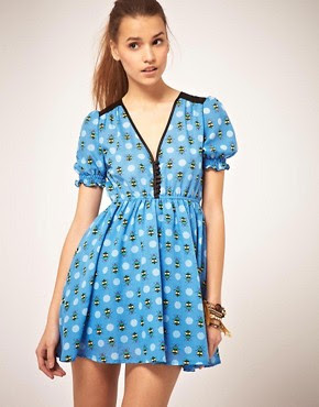 Image 1 ofOrion Bug Print Dress