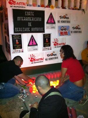 Población LGTB realiza vigilia frente a la Corte Interamericana de Derechos Humanos
