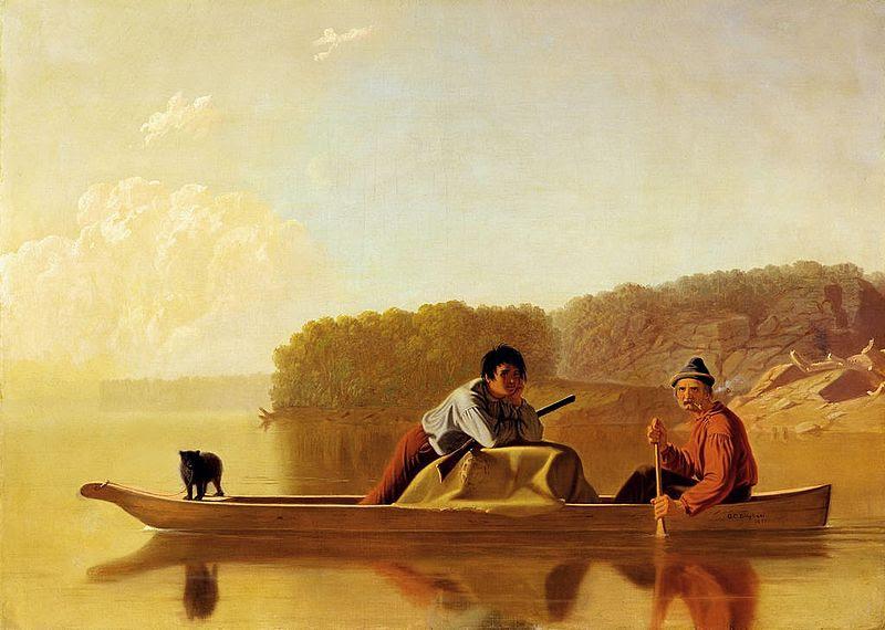 File:George Caleb Bingham - The Trappers' Return.jpg