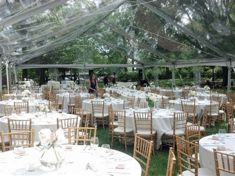 40x80 Jumbo Trac Clear Span Clear Top Tent w/ Ivory linens