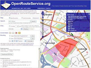 Open Route Service Fastest Avoid Polygon