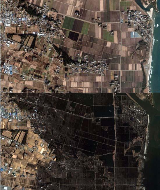 Ιαπωνία από ψηλά: Πριν και μετά το φονικό τσουνάμι (16)