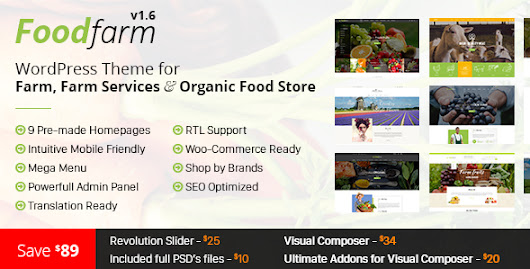 Download FoodFarm – WordPress Theme for Farm, Farm Services and Organic Food Store nulled | OXO-NULLED