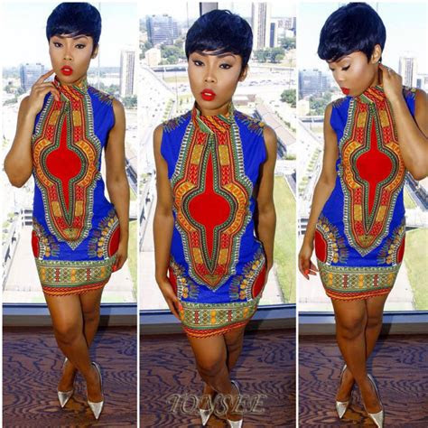 womens summer african print casual bodycon bohemia