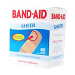 Band-Aid Sheer Adhesive Bandages For Long Lasting Protection, One Size - 40 Ea