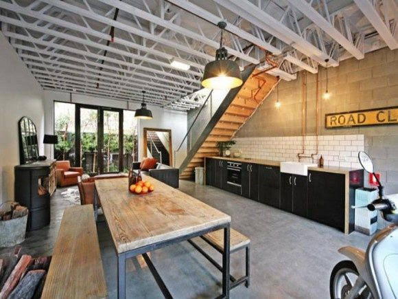 Industrial masculine kitchen.