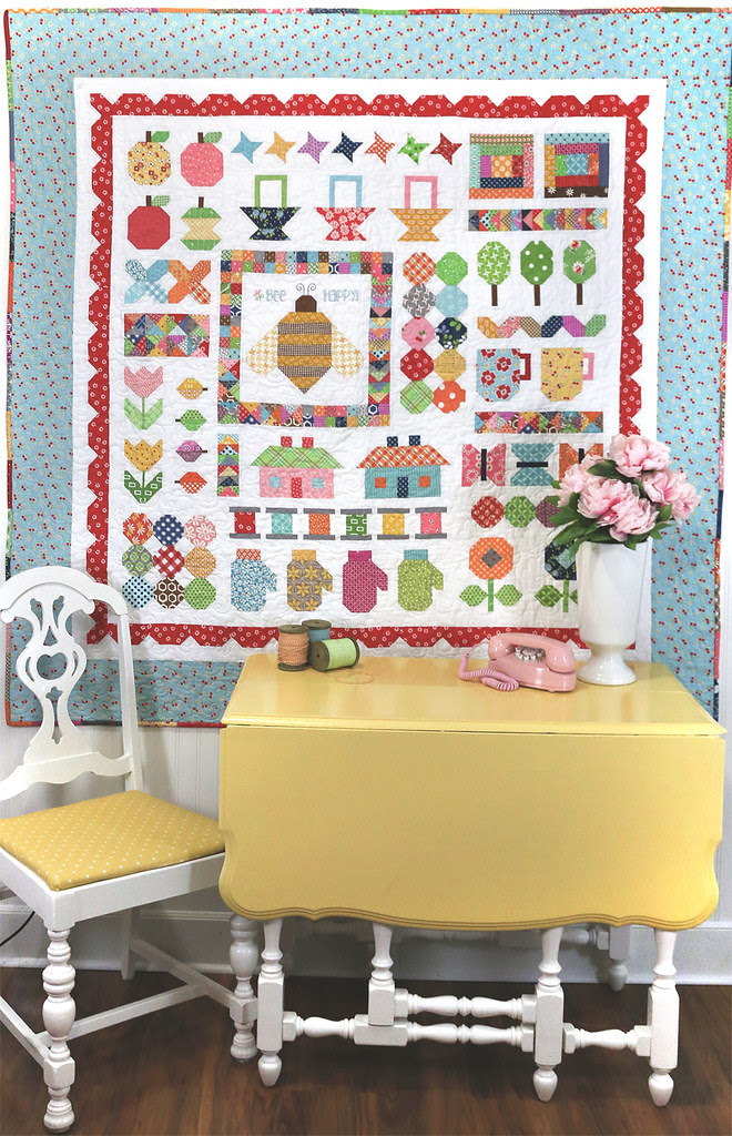 Quilty Fun Sampler Quilt by Lori Holt of Bee in my Bonnet