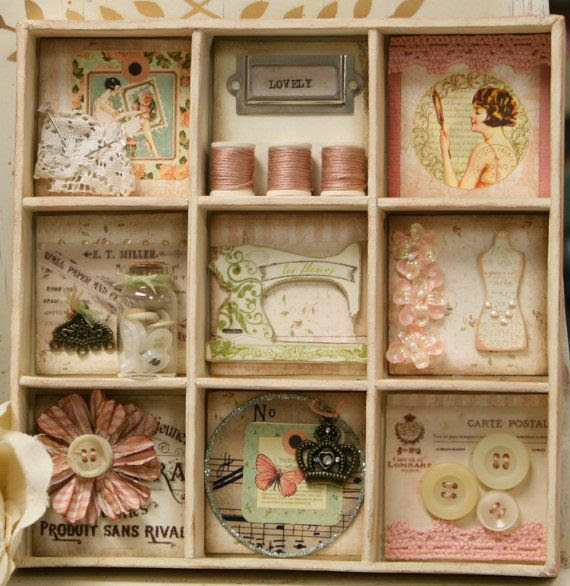 """Vintage Shadow Box Collage"""